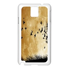 Birds Sky Planet Moon Shadow Samsung Galaxy Note 3 N9005 Case (white) by Simbadda