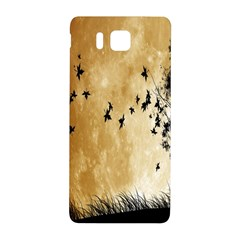 Birds Sky Planet Moon Shadow Samsung Galaxy Alpha Hardshell Back Case by Simbadda