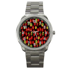 Berry Strawberry Many Sport Metal Watch