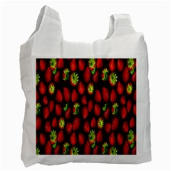 Berry Strawberry Many Recycle Bag (two Side)