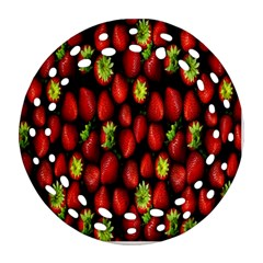 Berry Strawberry Many Ornament (round Filigree) by Simbadda