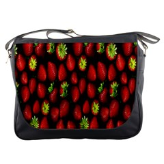 Berry Strawberry Many Messenger Bags by Simbadda