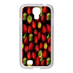 Berry Strawberry Many Samsung Galaxy S4 I9500/ I9505 Case (white) by Simbadda