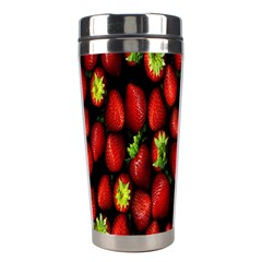 Berry Strawberry Many Stainless Steel Travel Tumblers by Simbadda