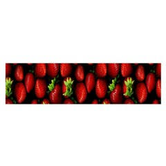Berry Strawberry Many Satin Scarf (oblong) by Simbadda