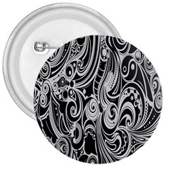 Black White Pattern Shape Patterns 3  Buttons by Simbadda