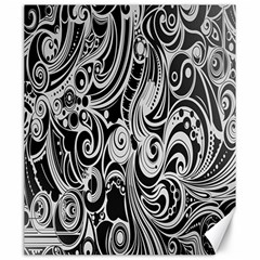 Black White Pattern Shape Patterns Canvas 20  X 24   by Simbadda