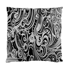 Black White Pattern Shape Patterns Standard Cushion Case (one Side) by Simbadda