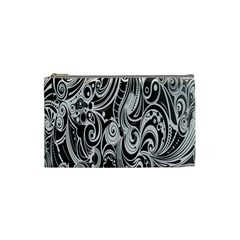 Black White Pattern Shape Patterns Cosmetic Bag (small)  by Simbadda