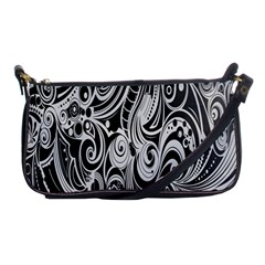 Black White Pattern Shape Patterns Shoulder Clutch Bags by Simbadda