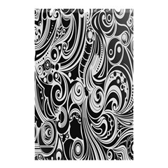 Black White Pattern Shape Patterns Shower Curtain 48  X 72  (small)  by Simbadda