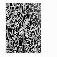 Black White Pattern Shape Patterns Large Garden Flag (two Sides) by Simbadda