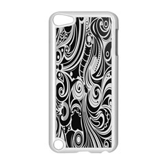 Black White Pattern Shape Patterns Apple Ipod Touch 5 Case (white) by Simbadda