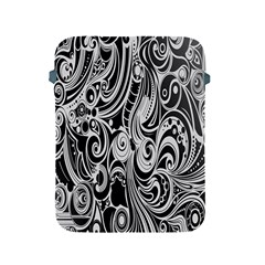 Black White Pattern Shape Patterns Apple Ipad 2/3/4 Protective Soft Cases by Simbadda