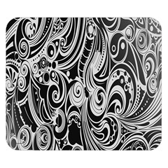Black White Pattern Shape Patterns Double Sided Flano Blanket (small)  by Simbadda