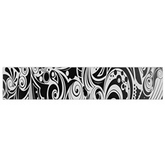 Black White Pattern Shape Patterns Flano Scarf (small)