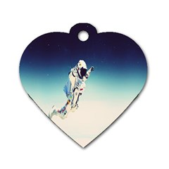 Astronaut Dog Tag Heart (one Side) by Simbadda
