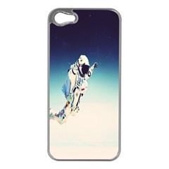 Astronaut Apple Iphone 5 Case (silver) by Simbadda