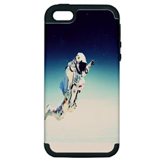 Astronaut Apple Iphone 5 Hardshell Case (pc+silicone) by Simbadda