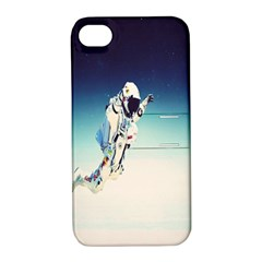 Astronaut Apple Iphone 4/4s Hardshell Case With Stand by Simbadda