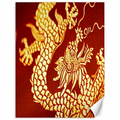 Fabric Pattern Dragon Embroidery Texture Canvas 12  X 16   by Simbadda