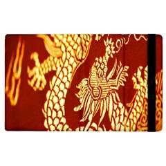 Fabric Pattern Dragon Embroidery Texture Apple Ipad 2 Flip Case by Simbadda