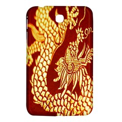 Fabric Pattern Dragon Embroidery Texture Samsung Galaxy Tab 3 (7 ) P3200 Hardshell Case  by Simbadda