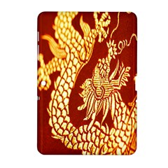 Fabric Pattern Dragon Embroidery Texture Samsung Galaxy Tab 2 (10 1 ) P5100 Hardshell Case  by Simbadda