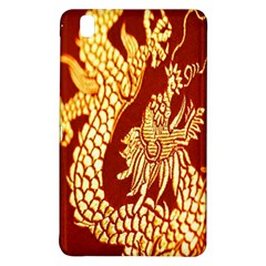 Fabric Pattern Dragon Embroidery Texture Samsung Galaxy Tab Pro 8 4 Hardshell Case by Simbadda