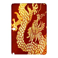 Fabric Pattern Dragon Embroidery Texture Samsung Galaxy Tab Pro 12 2 Hardshell Case by Simbadda