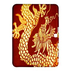 Fabric Pattern Dragon Embroidery Texture Samsung Galaxy Tab 4 (10 1 ) Hardshell Case  by Simbadda