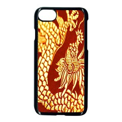 Fabric Pattern Dragon Embroidery Texture Apple Iphone 7 Seamless Case (black) by Simbadda