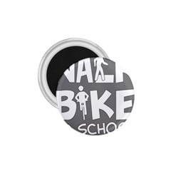 Bicycle Walk Bike School Sign Grey 1 75  Magnets by Alisyart