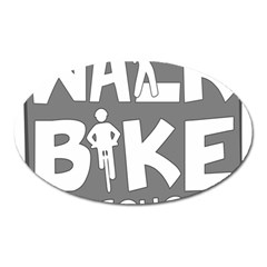 Bicycle Walk Bike School Sign Grey Oval Magnet