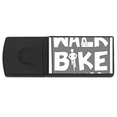 Bicycle Walk Bike School Sign Grey Usb Flash Drive Rectangular (4 Gb) by Alisyart