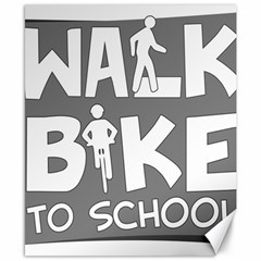 Bicycle Walk Bike School Sign Grey Canvas 8  X 10  by Alisyart