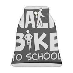 Bicycle Walk Bike School Sign Grey Bell Ornament (two Sides) by Alisyart