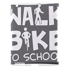 Bicycle Walk Bike School Sign Grey Apple Ipad 3/4 Hardshell Case (compatible With Smart Cover)