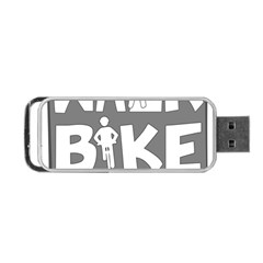 Bicycle Walk Bike School Sign Grey Portable Usb Flash (one Side) by Alisyart