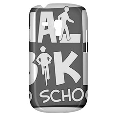Bicycle Walk Bike School Sign Grey Galaxy S3 Mini by Alisyart