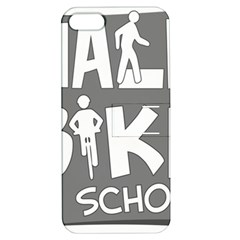 Bicycle Walk Bike School Sign Grey Apple Iphone 5 Hardshell Case With Stand by Alisyart