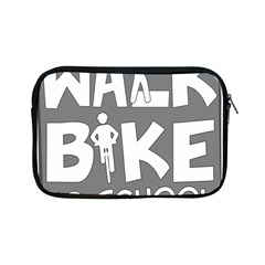 Bicycle Walk Bike School Sign Grey Apple Ipad Mini Zipper Cases by Alisyart