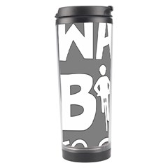 Bicycle Walk Bike School Sign Grey Travel Tumbler