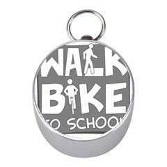 Bicycle Walk Bike School Sign Grey Mini Silver Compasses by Alisyart