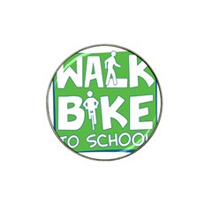 Bicycle Walk Bike School Sign Green Blue Hat Clip Ball Marker