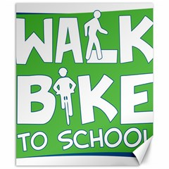 Bicycle Walk Bike School Sign Green Blue Canvas 8  X 10  by Alisyart