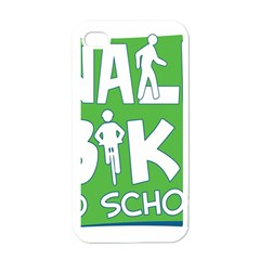 Bicycle Walk Bike School Sign Green Blue Apple Iphone 4 Case (white) by Alisyart