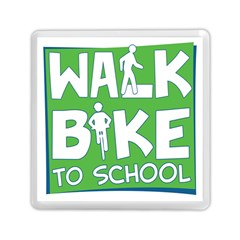 Bicycle Walk Bike School Sign Green Blue Memory Card Reader (square)