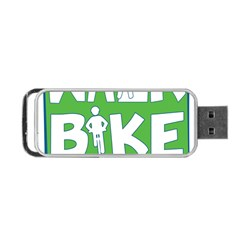 Bicycle Walk Bike School Sign Green Blue Portable Usb Flash (two Sides)