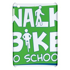 Bicycle Walk Bike School Sign Green Blue Apple Ipad Mini Hardshell Case by Alisyart
